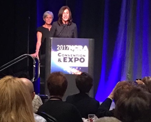 Kramm accepts Aurelio Altruism Award at NCRA annual convention