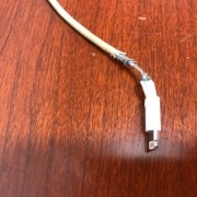 Court Reporter's ipad cord at a deposition